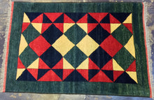 Load image into Gallery viewer, Oriental 5 x 8   Yellow, Green Rug #3465