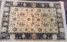 Load image into Gallery viewer, Traditional 6 x 9 Beige Black Rug #5950