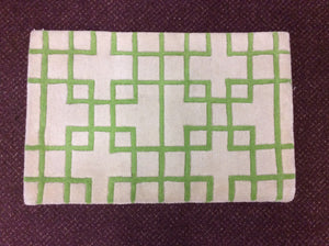 Contemporary Ivory, Green 2x3 Oriental Wool Rug