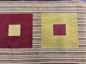 Contemporary 5 x 8   Red, Gold Rug #24955