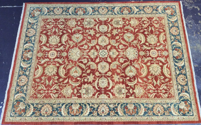 Traditional 9 x 12 Red Rug #52793