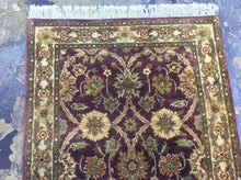 Load image into Gallery viewer, Oriental 3 x 12 Purple Rug #11393