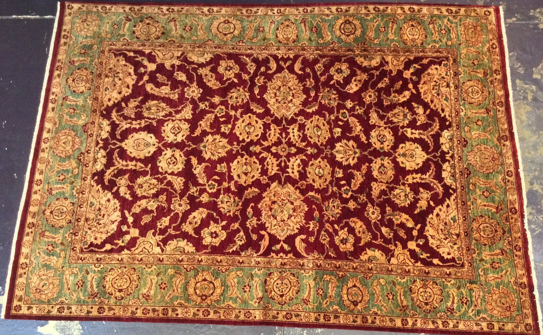 Traditional 9 x 12 Red, Gold Rug #6358