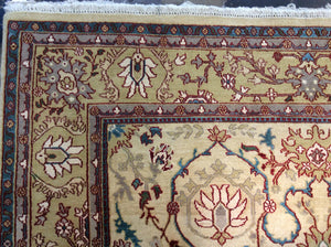 Traditional 8 x 10 Blue, Brown Rug #50701