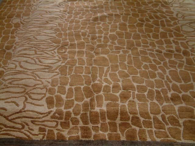 Contemporary 8 x 10 Brown Discount Rug #36172