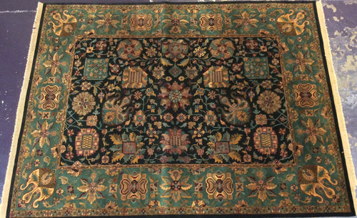 Traditional 9 x 12 Blue Rug #18835