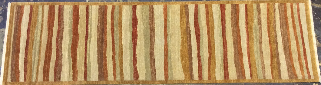 3 x 11 runner India Contemporary Multi Color #64747
