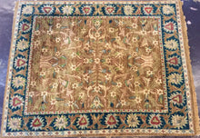 Load image into Gallery viewer, Oriental 8 x 10 Brown, Blue Rug #7279