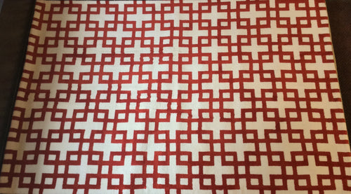 5 x 8 India Contemporary Ivory Red #67365
