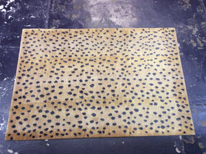 Contemporary 4 x 6 Gold Black Discount Rug #9989