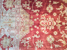 Load image into Gallery viewer, Traditional 8 x 10 Red, Gold Rug #4834