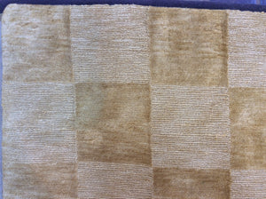 Contemporary 6 x 9 Gold Discount Rug #53529