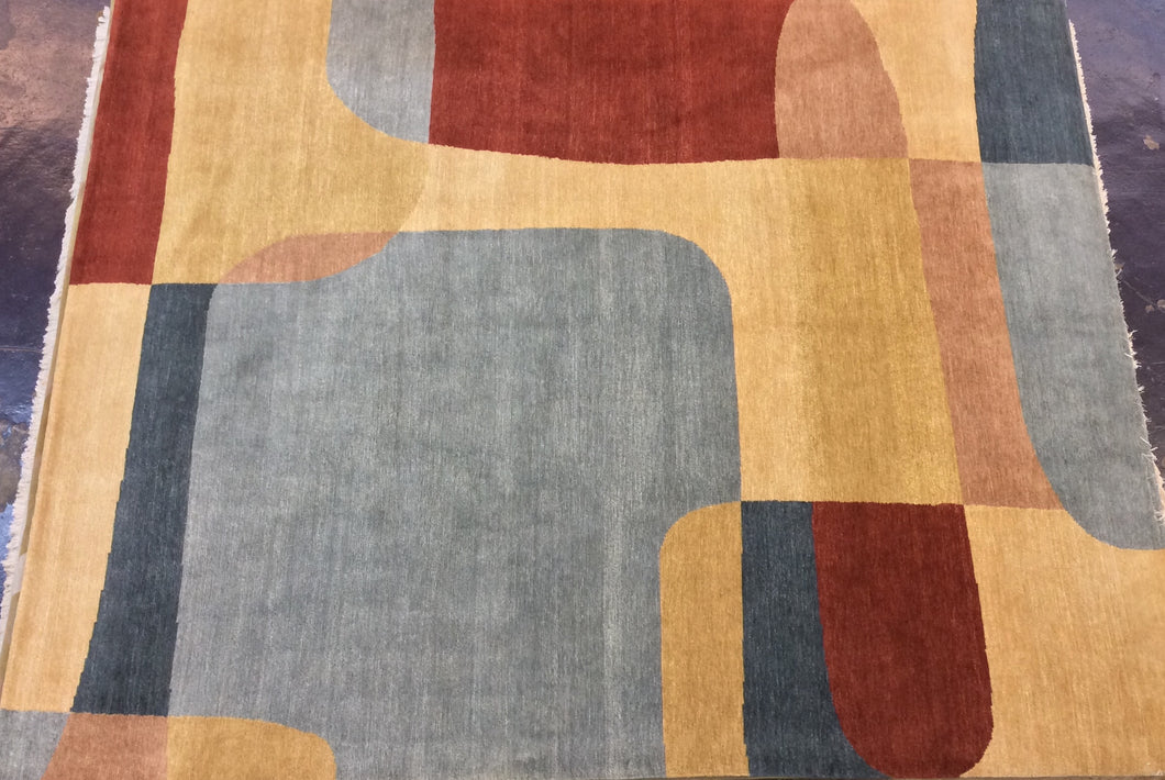 Contemporary 8 x 10 Multi-Color Discount Rug #39749