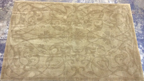 Contemporary 6'7 x 9'10 Brown Rug #16288