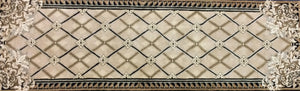 Contemporary 3 x 9 Ivory Discount Rug #826