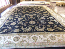 Load image into Gallery viewer, Oriental 12 x 18 Black, Ivory Rug #46161