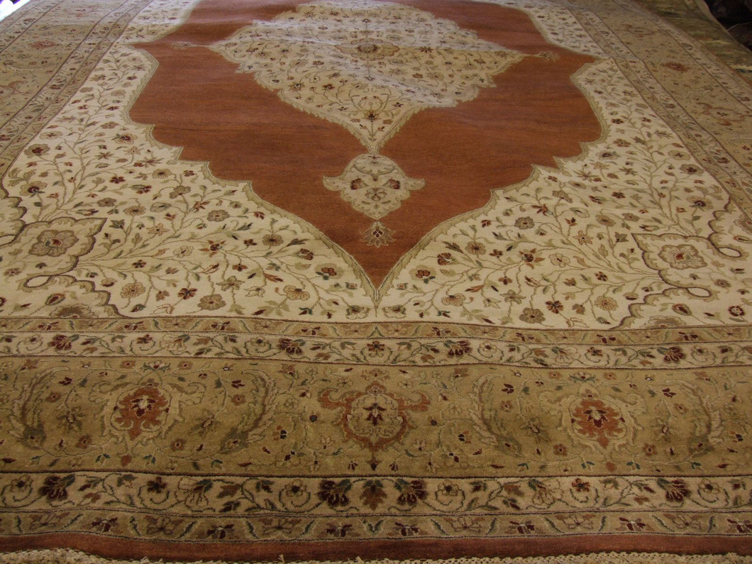 Traditional 10 x 13 Red, Brown Rug #46228