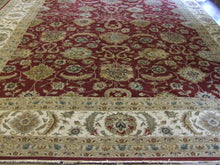 Load image into Gallery viewer, Traditional 12 x 18 Red, Ivory Rug #46272