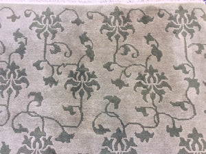 Contemporary 6 x 9 Beige Discount Rug #50641