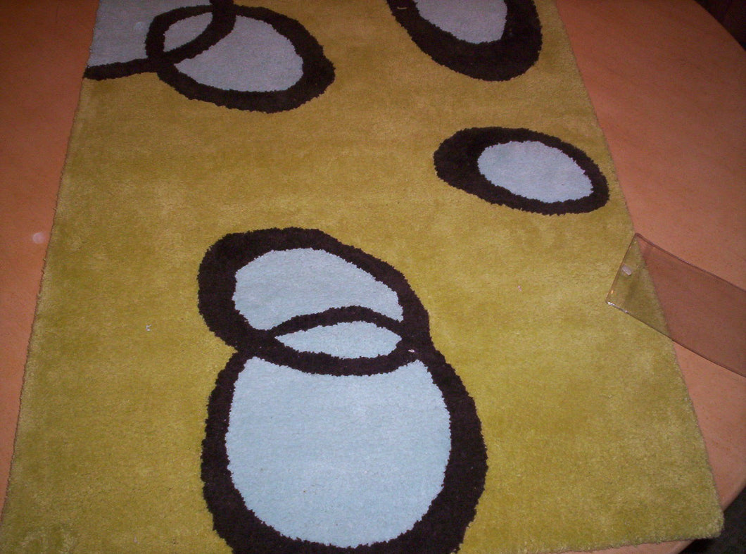 Contemporary 2 x 3 Green Rug #46925