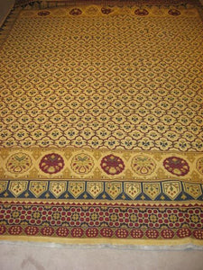 Kilim 9 x 12 Gold, Red Rug #4824