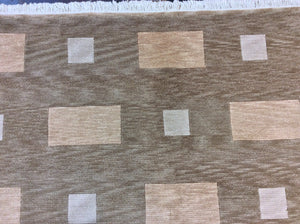 Contemporary 6 x 9 Brown Discount Rug #7227