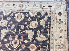 Load image into Gallery viewer, Oriental 6 x 9 Black, Beige Rug #27898