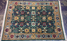 Load image into Gallery viewer, Oriental 9 x 12 Green Rug #51043