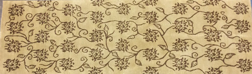 Contemporary 3 x 9 Brown Discount Rug #8176