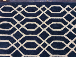 9 x 13 India Contemporary Blue #73521