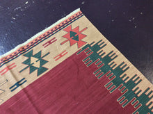 Load image into Gallery viewer, Kilim 6 x 9 Red, Gold Rug #53553