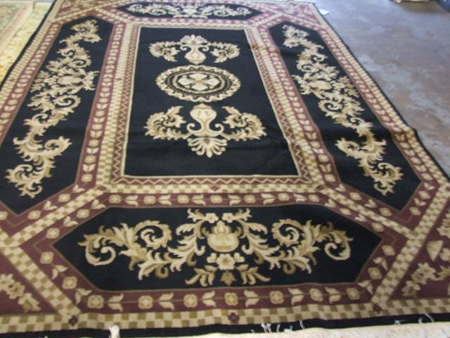 Contemporary 9 x 12 Black Discount Rug #50899