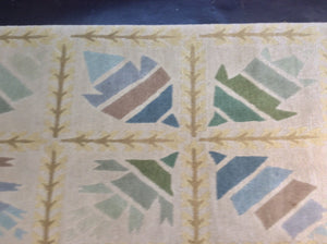 Contemporary 6 x 9 Multi-Color Discount Rug #50733