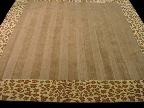 Contemporary 9 x 10 Brown Discount Rug #51086