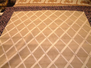 Contemporary 8 x 10 Beige Purple Discount Rug #51104