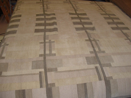 Contemporary 10 x10 Beige Discount Rug #51171