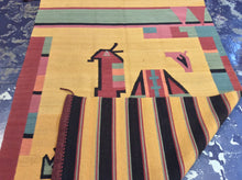 Load image into Gallery viewer, Kilim 6 x 8 Brown, Yellow Rug #3579