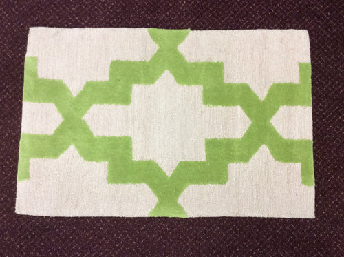 2 x 3 India Contemporary Green #68757