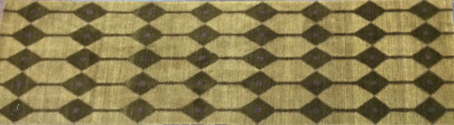 Contemporary 3 x 10 Brown Discount Rug #2582