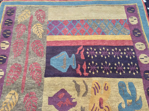 6 x 9 India Contemporary Multi-Color #749