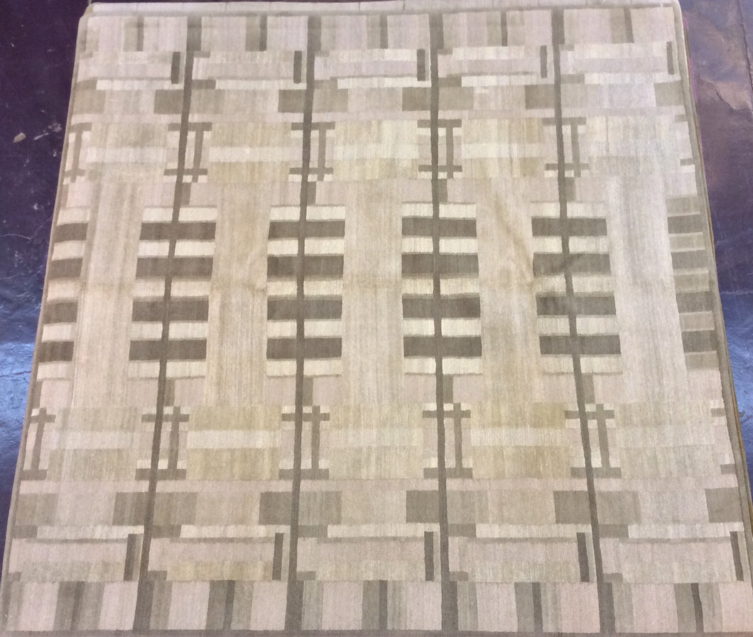 Contemporary 8 x 8 Beige Discount Rug #9428