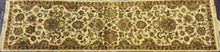 Load image into Gallery viewer, Traditional 3 x 12 Gold, Ivory Rug #4431