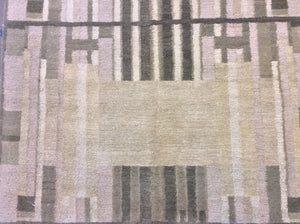 Contemporary 3 x 9 Beige Discount Rug #51175
