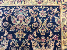 Load image into Gallery viewer, Traditional 9 x 12 Blue, Gold Rug #1481