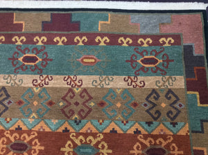 Contemporary 6 x 9 Multi-Color Discount Rug #29295