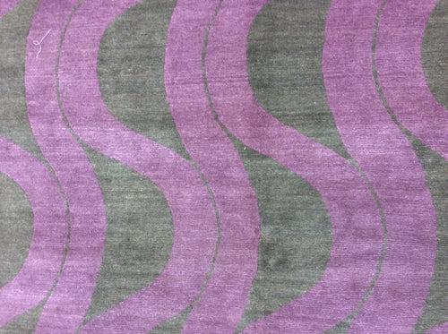 Contemporary 8 x 9 Purple Discount Rug #50839