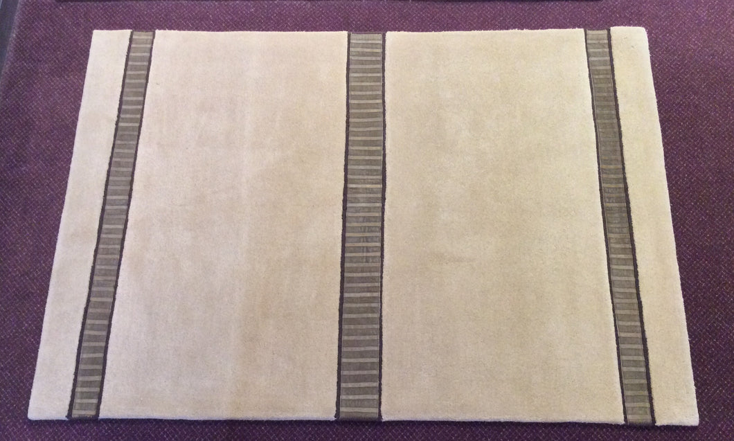 Contemporary 5 x 8 Beige Rug #22347
