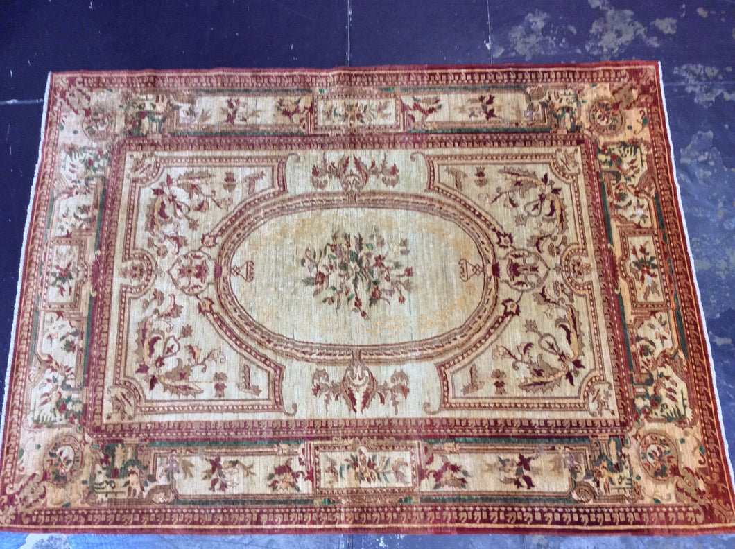 Traditional 9 x 12 Brown, Ivory Rug #9859