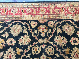 Traditional 9 x 12 Black, Red Rug #6362