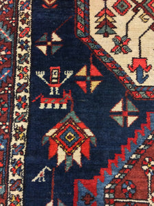 Traditional 3'5 x 15'6 Blue Rug #69832
